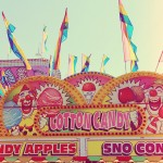 cotton candy carnival stand
