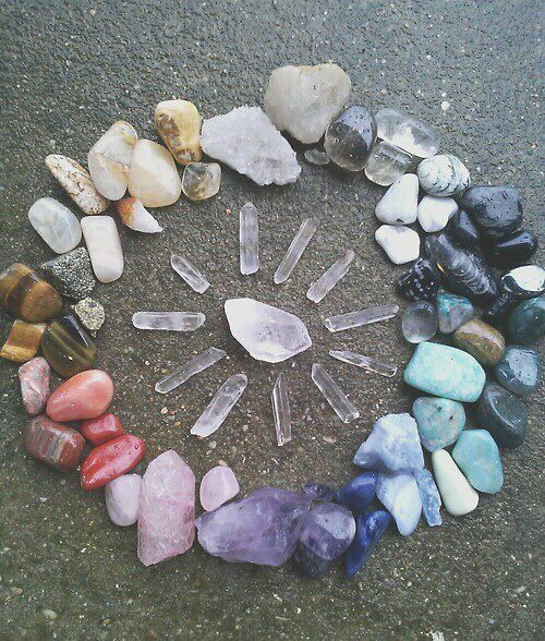 crystal grid ocean sandy beach