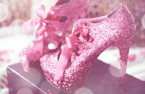 glitter platforms with ribbon laces