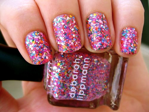 confetti glitter nails